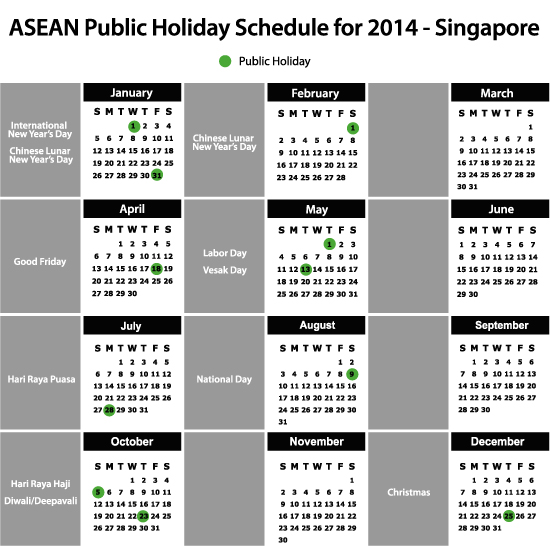 ASEAN Public Holiday Schedule for 2014 - ASEAN Business News