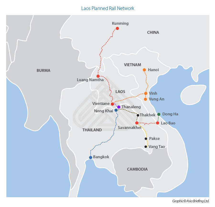 Laos Planned Rail Network