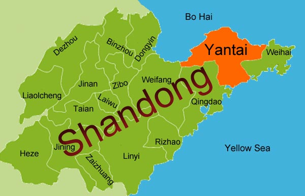Business Legal Tax Accounting HR Payroll News Asia Briefing - Yantai map